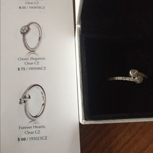 Pandora Forever Hearts Ring Size 54 (7)